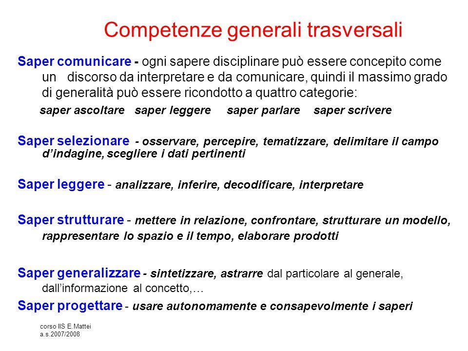 Competenze generali trasversali