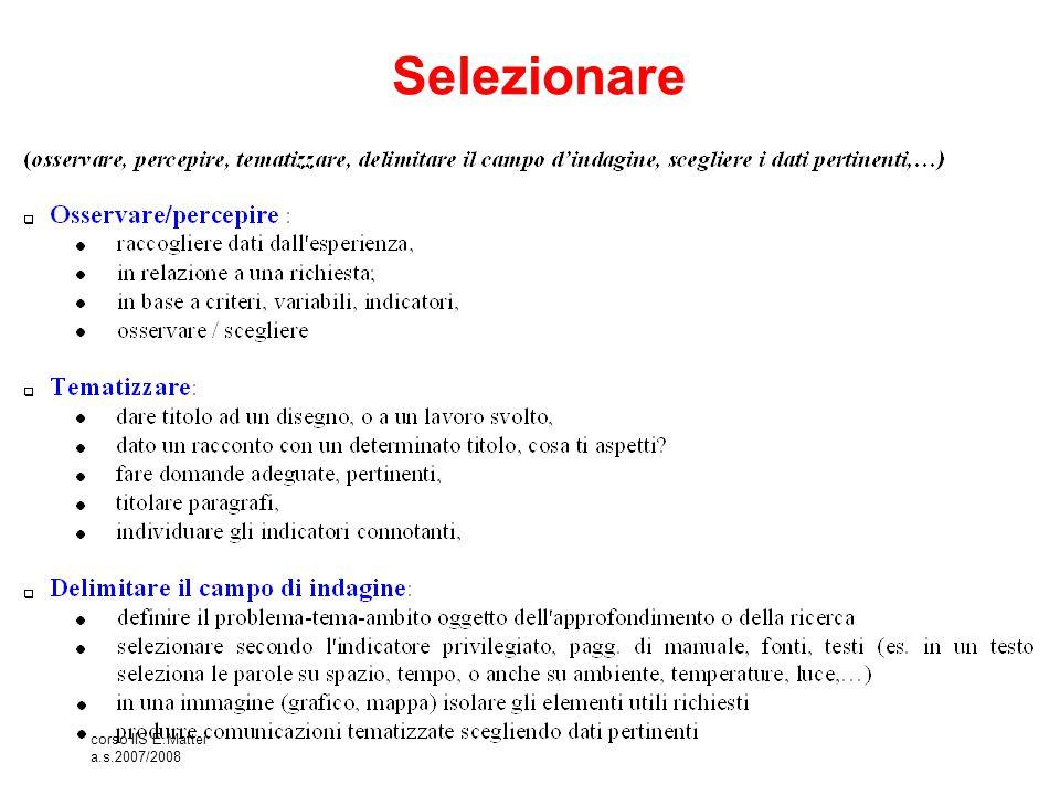 Selezionare corso IIS E.Mattei a.s.2007/2008