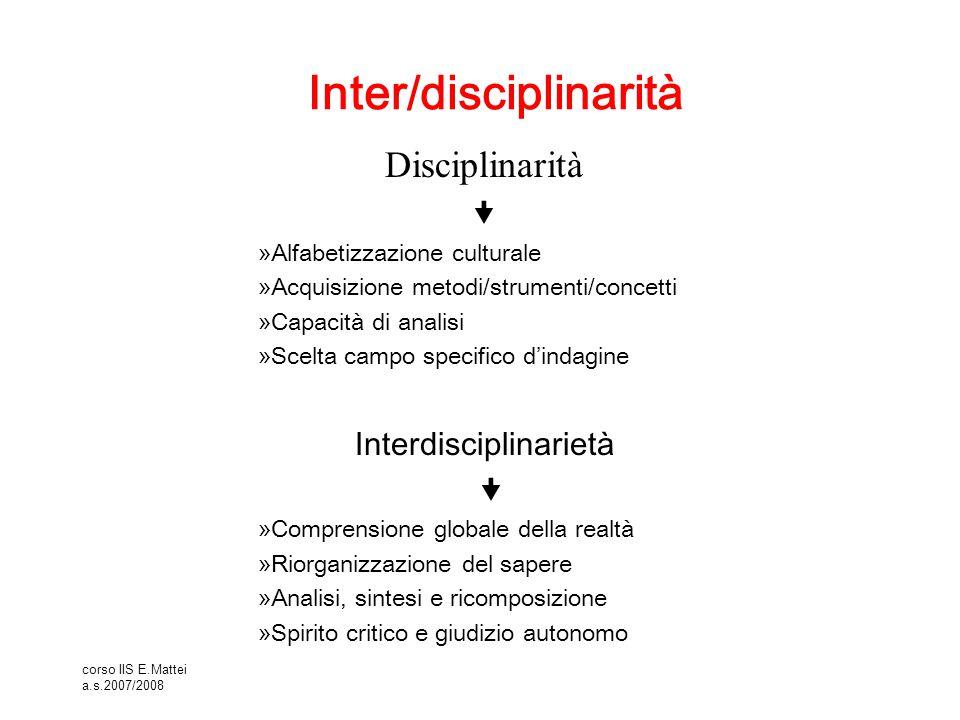Inter/disciplinarità