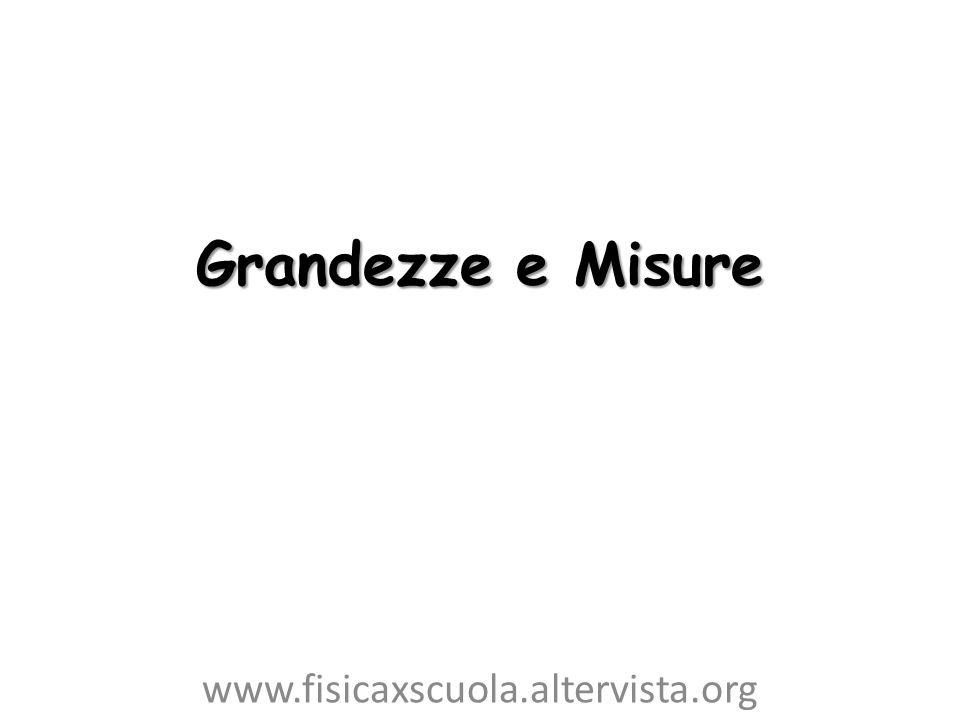 Grandezze e Misure www.fisicaxscuola.altervista.org