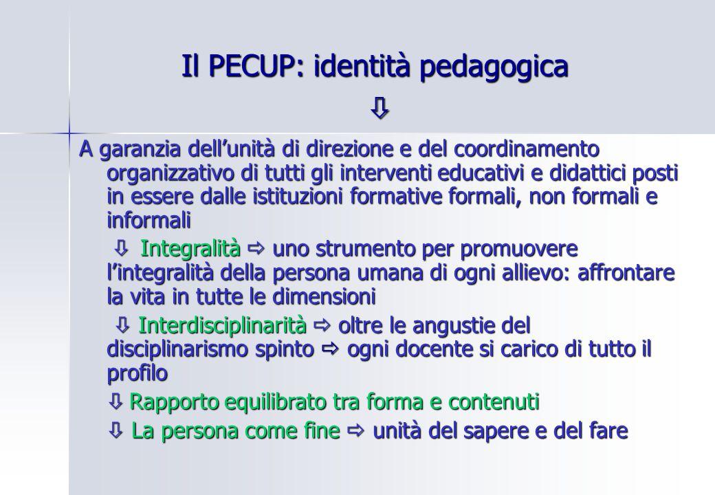 Il PECUP: identità pedagogica 