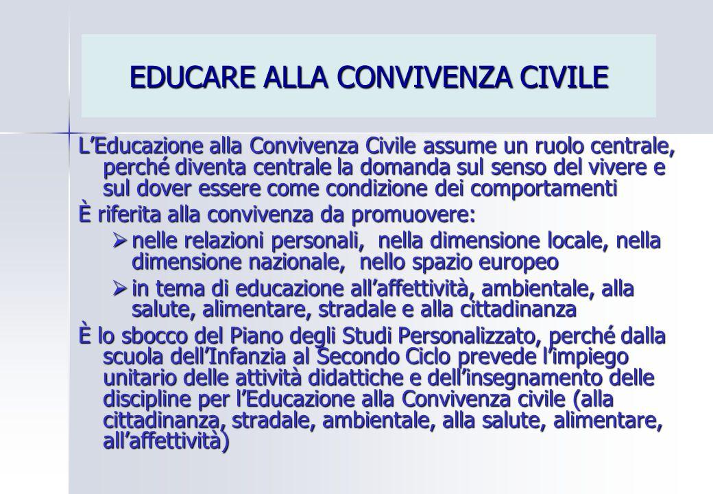 EDUCARE ALLA CONVIVENZA CIVILE
