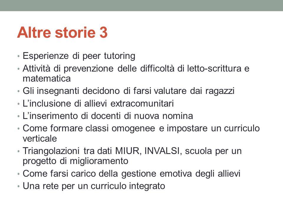 Altre storie 3 Esperienze di peer tutoring