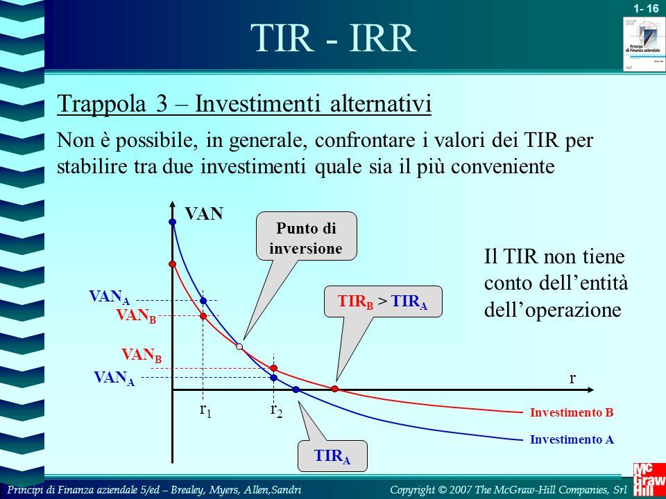 TIR - IRR Trappola 3 – Investimenti alternativi