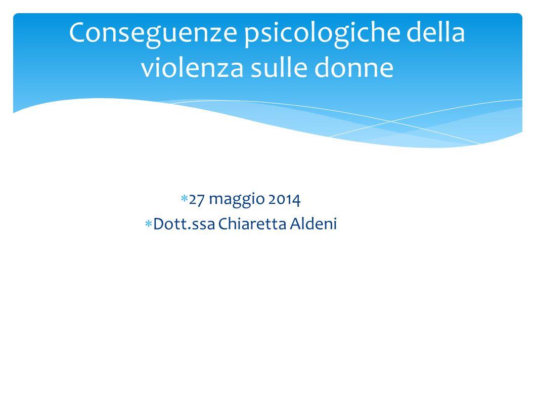 Conseguenze psicologiche della violenza sulle donne