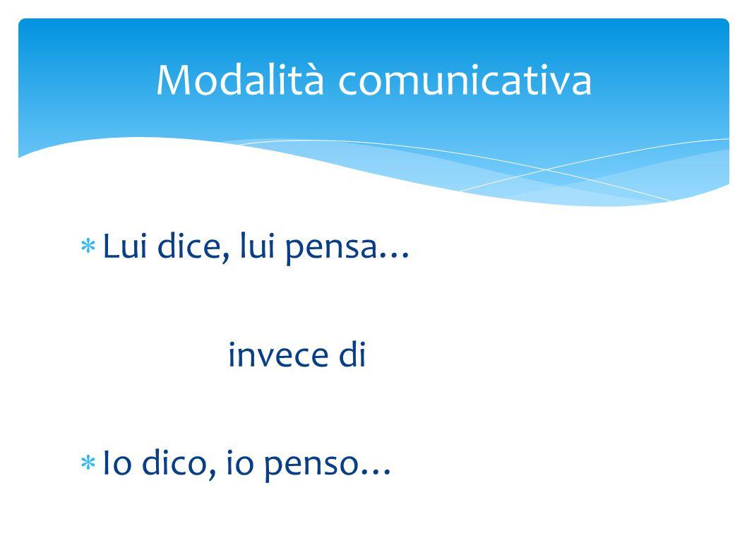 Modalità comunicativa