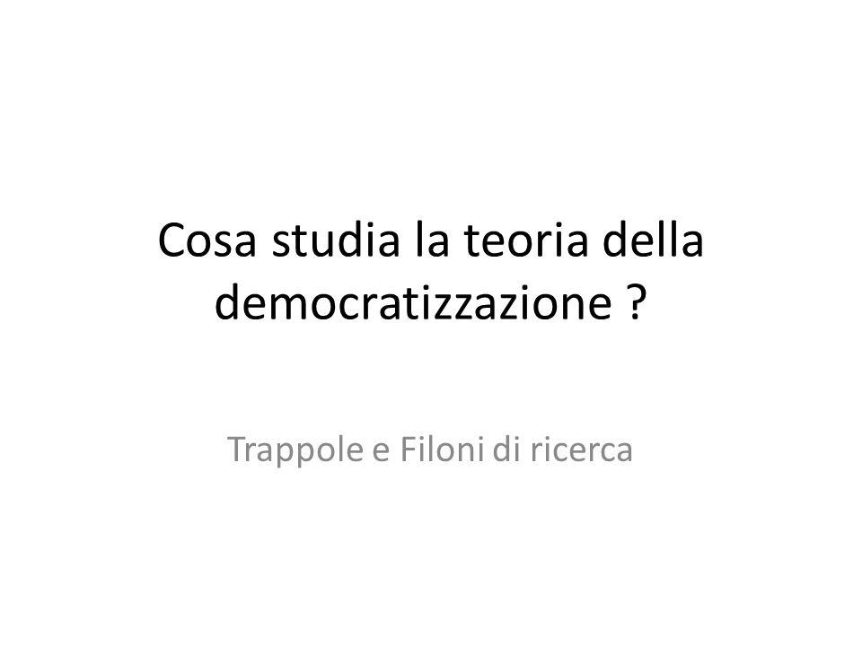 Cosa studia la teoria della democratizzazione