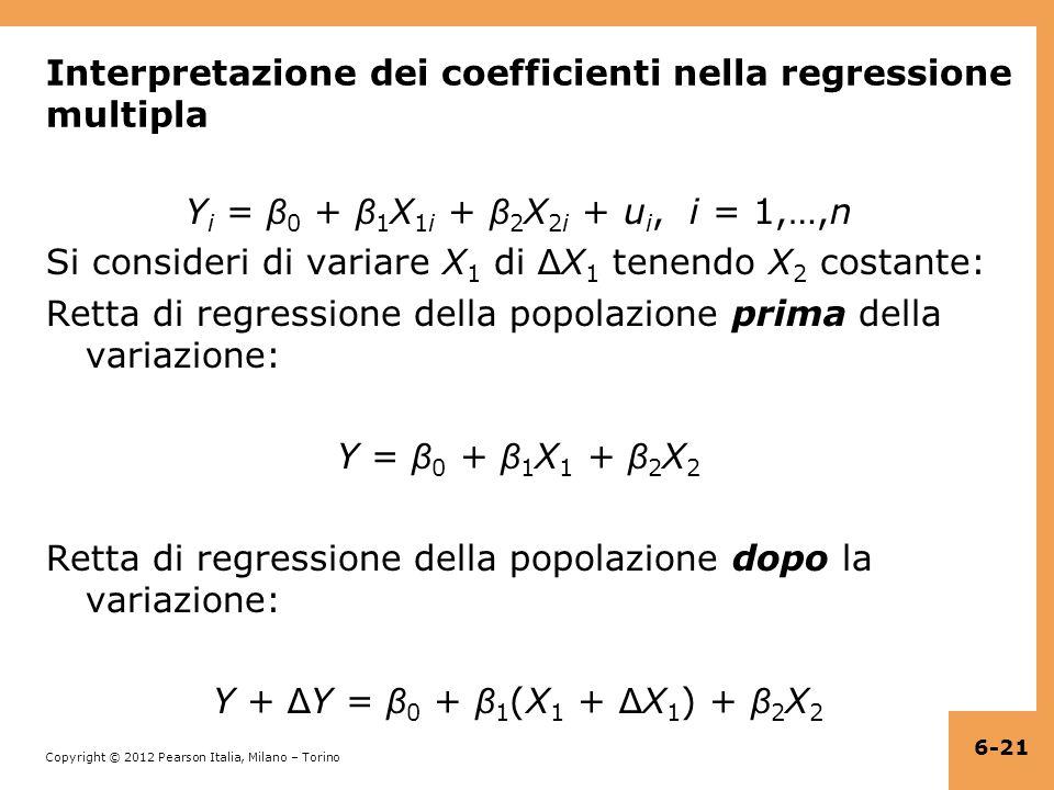 Interpretazione dei coefficienti nella regressione multipla
