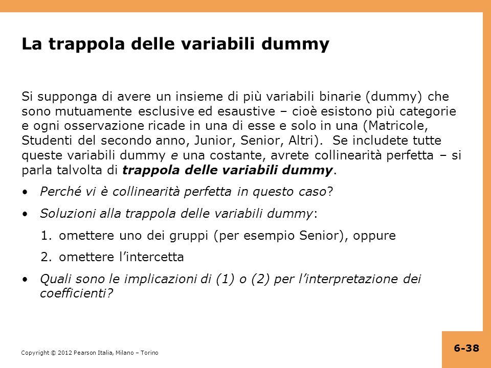 La trappola delle variabili dummy