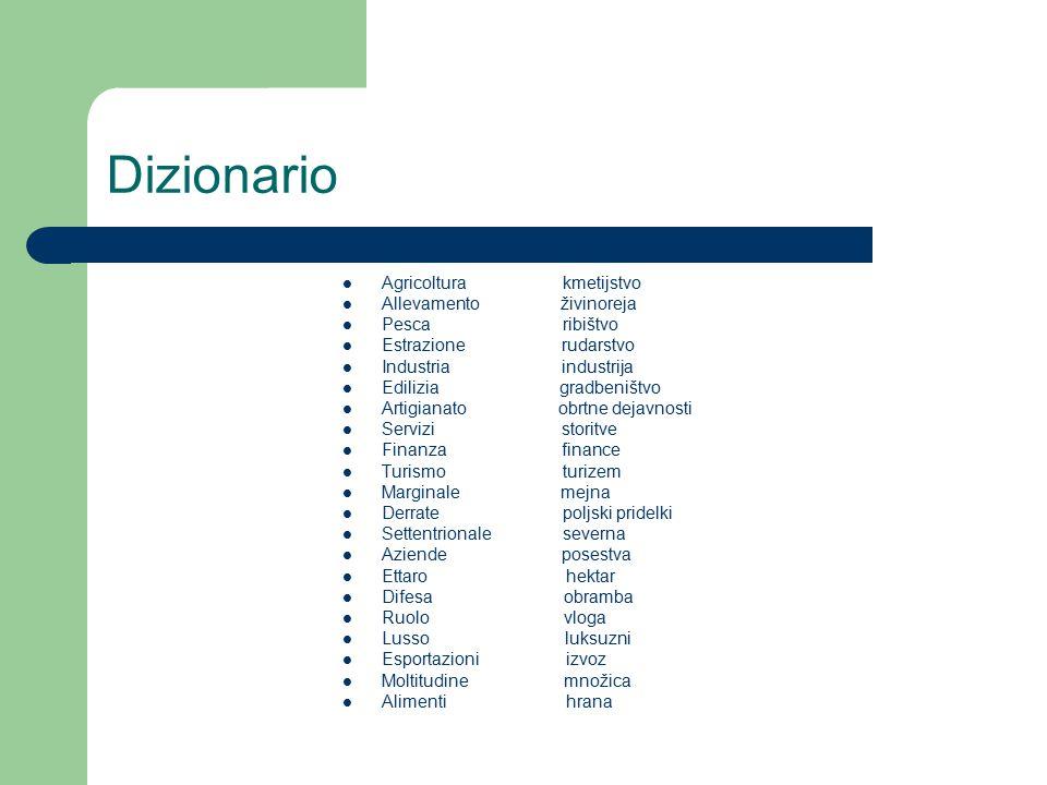 Dizionario Agricoltura kmetijstvo Allevamento živinoreja