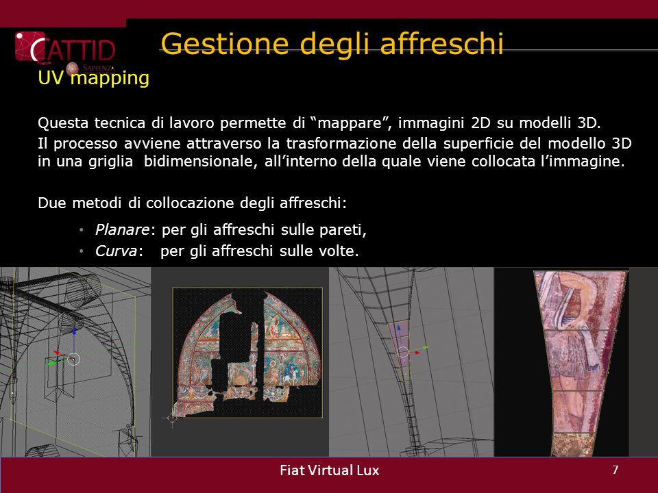 Gestione degli affreschi
