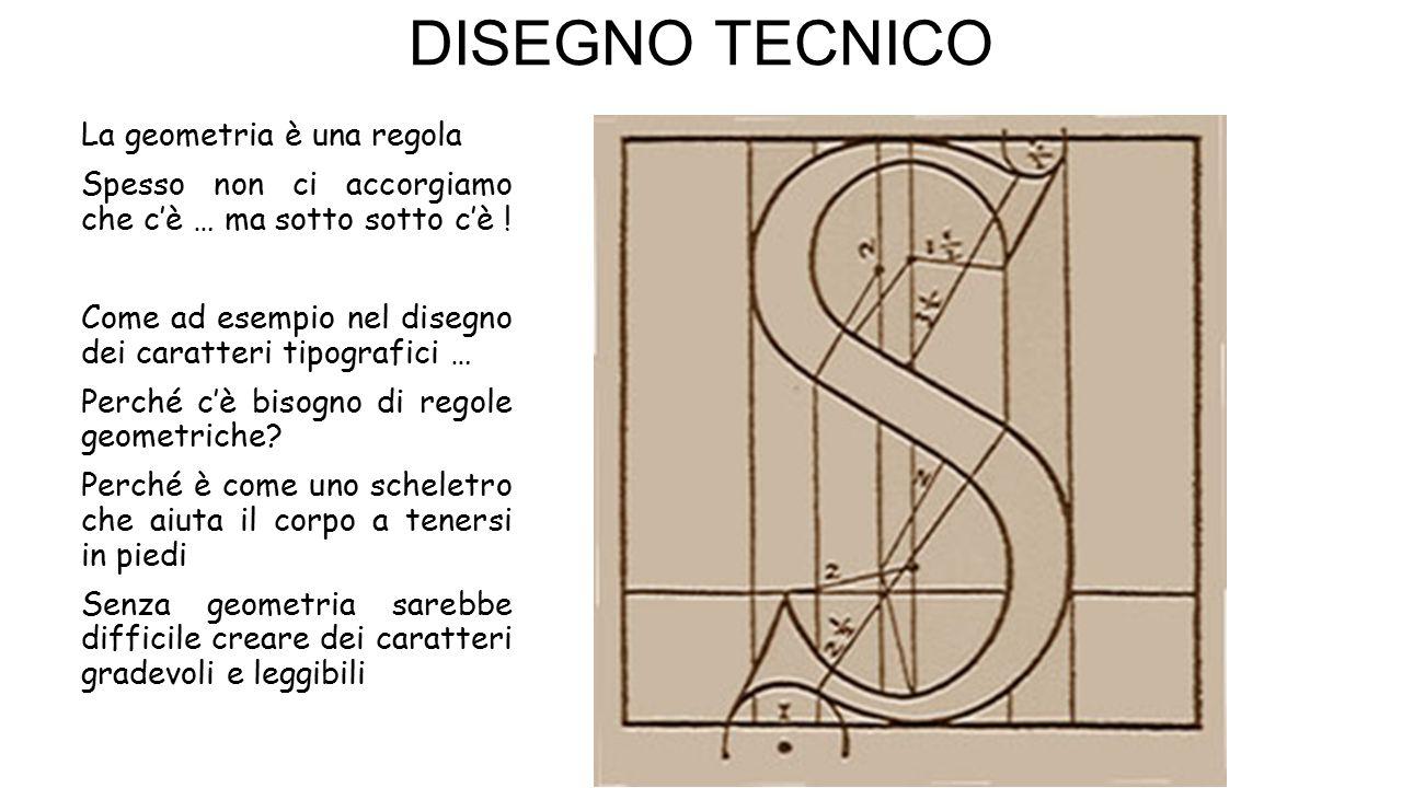DISEGNO TECNICO La geometria è una regola