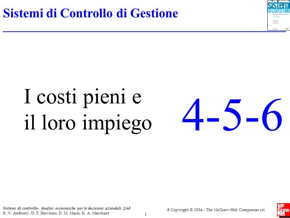 4-5-6 I costi pieni e il loro impiego Sistemi di Controllo di Gestione