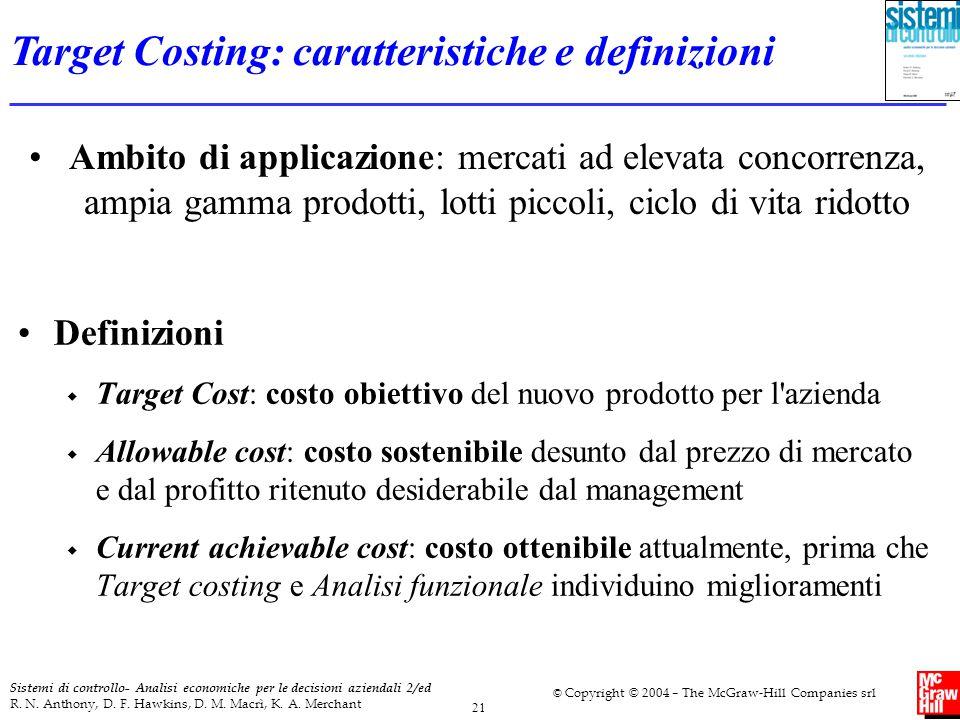 Target Costing: caratteristiche e definizioni
