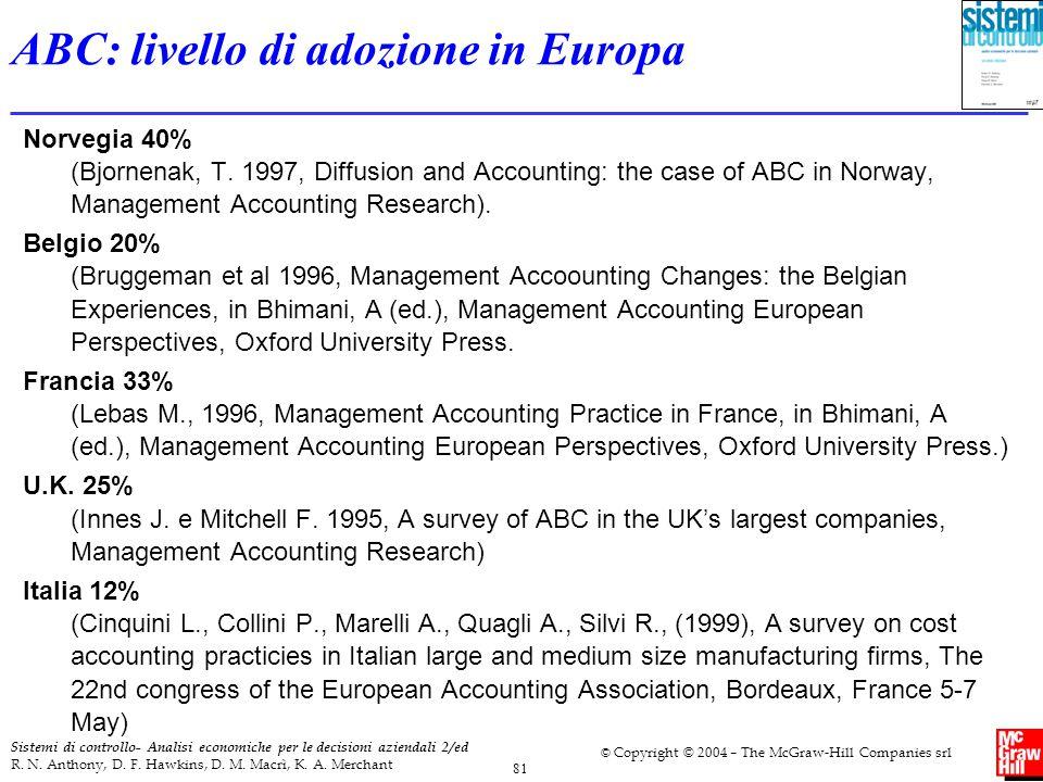 ABC: livello di adozione in Europa
