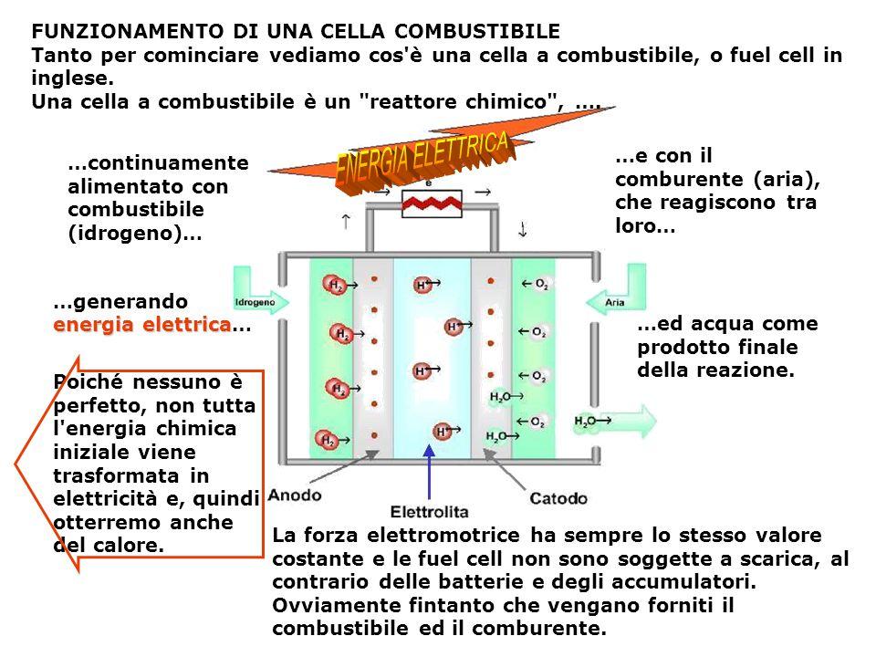 ENERGIA ELETTRICA FUNZIONAMENTO DI UNA CELLA COMBUSTIBILE