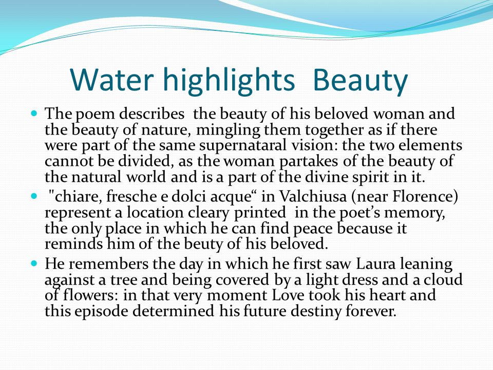 Water highlights Beauty