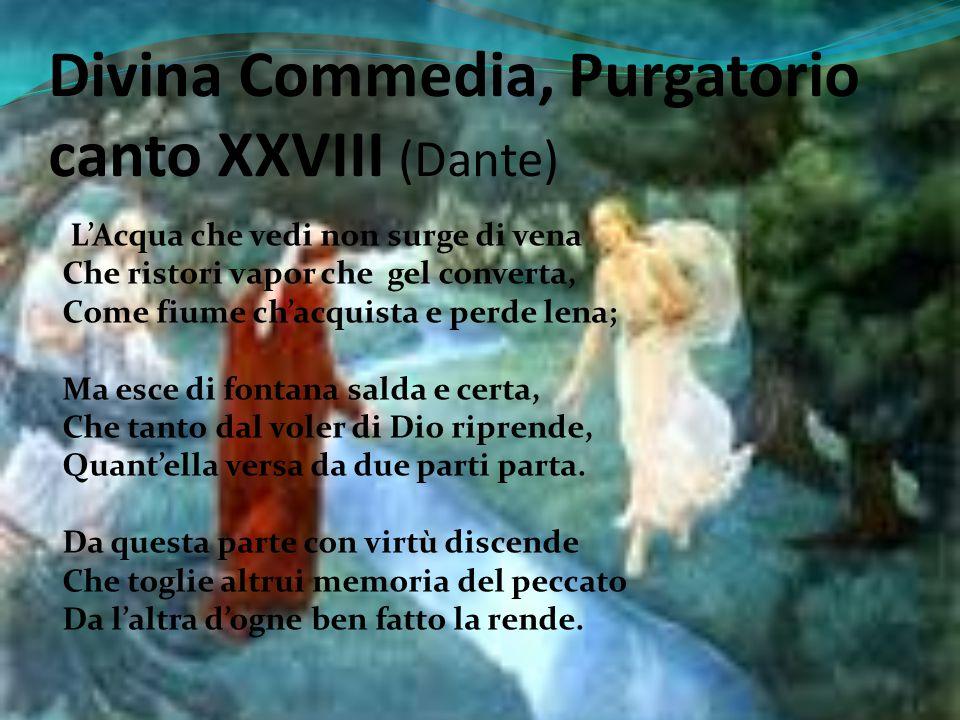 Divina Commedia, Purgatorio canto XXVIII (Dante)