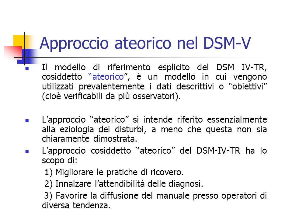 Approccio ateorico nel DSM-V