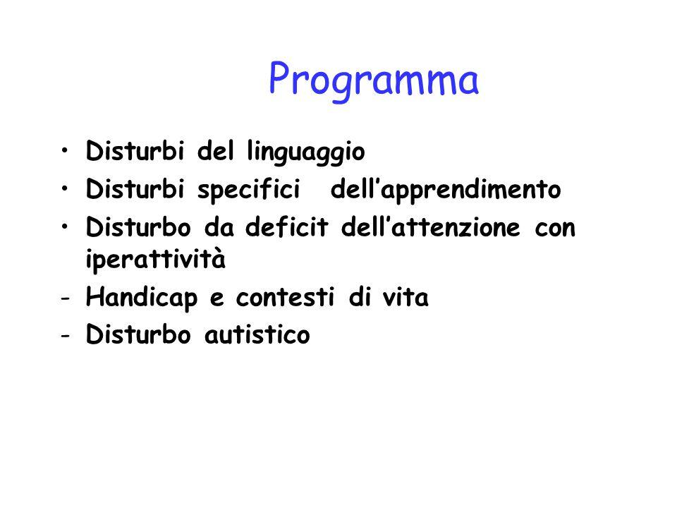 Programma Disturbi del linguaggio