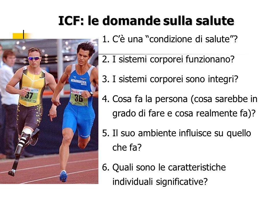 ICF: le domande sulla salute