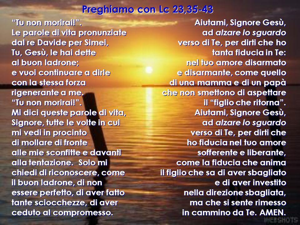 Preghiamo con Lc 23,35-43