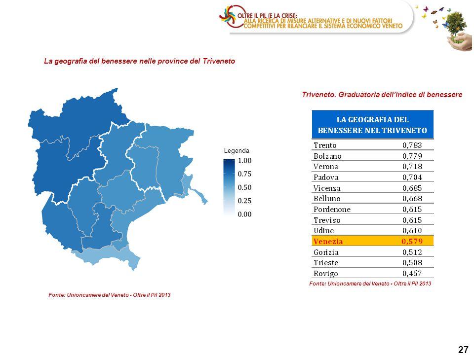 27 27 27 La geografia del benessere nelle province del Triveneto