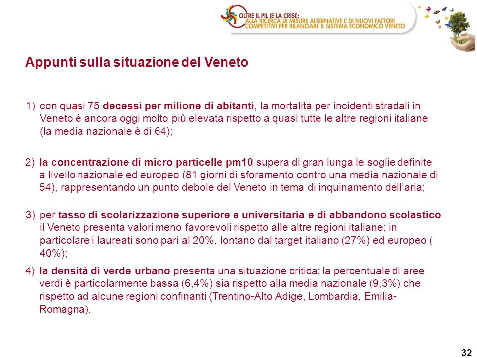 Appunti sulla situazione del Veneto