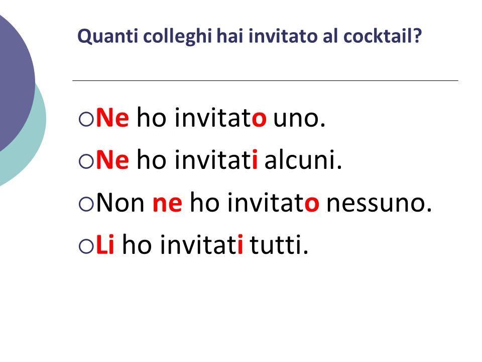 Quanti colleghi hai invitato al cocktail
