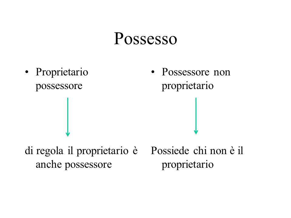 Possesso Proprietario possessore
