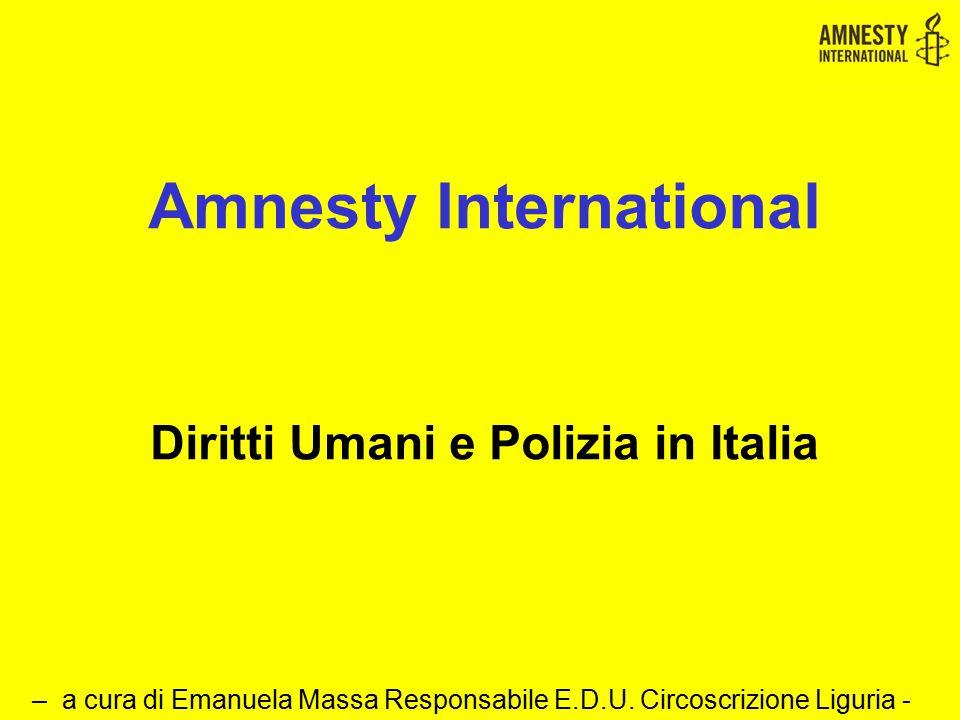 Amnesty International Diritti Umani e Polizia in Italia
