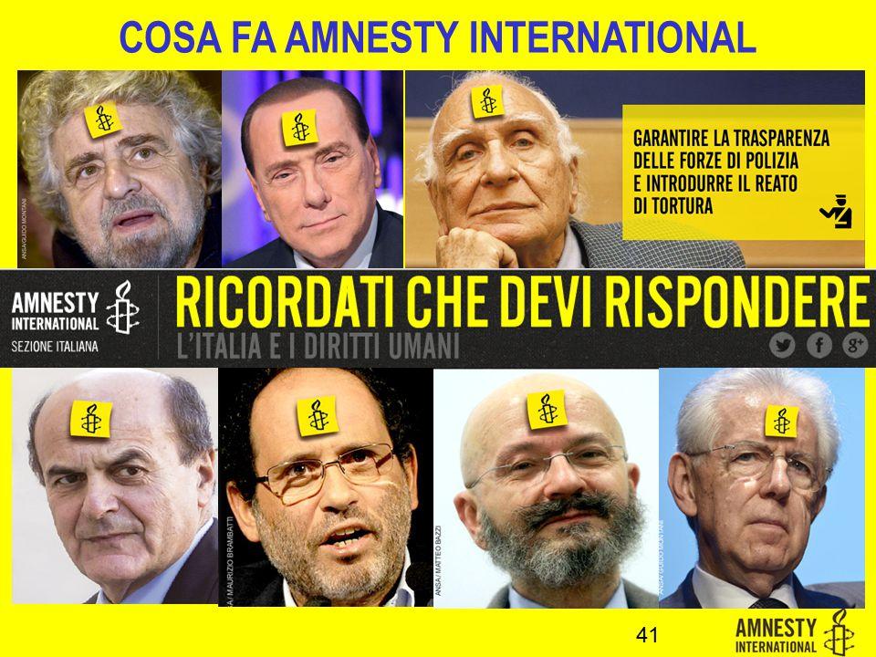 COSA FA AMNESTY INTERNATIONAL