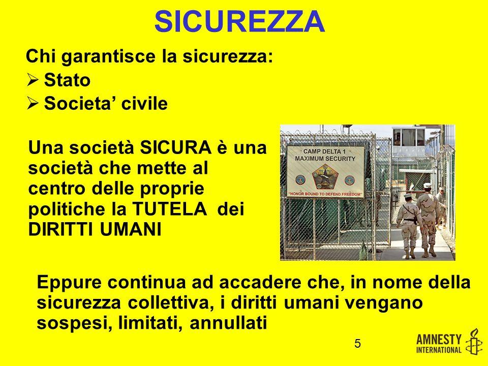 SICUREZZA Chi garantisce la sicurezza: Stato Societa' civile