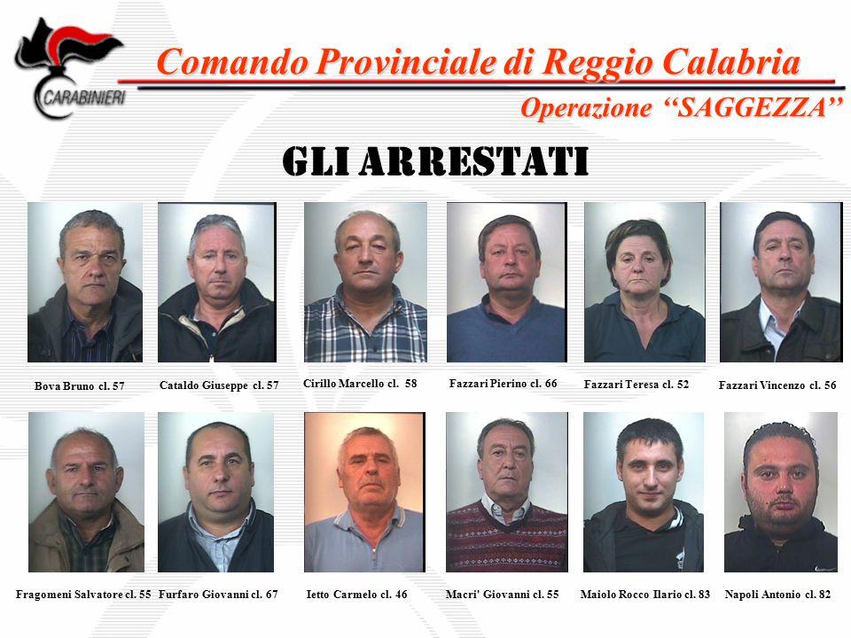 Comando Provinciale di Reggio Calabria Fragomeni Salvatore cl. 55
