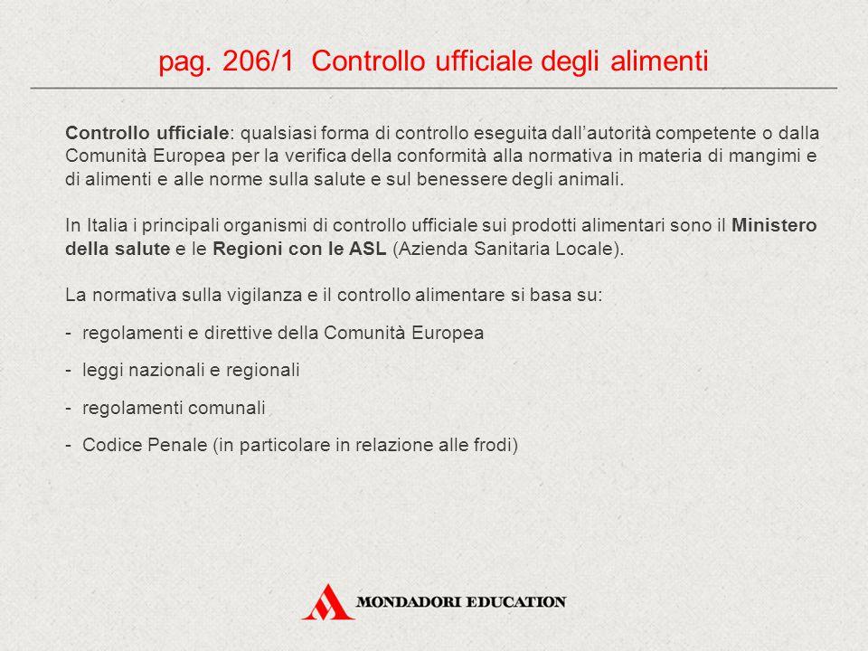 pag. 206/1 Controllo ufficiale degli alimenti