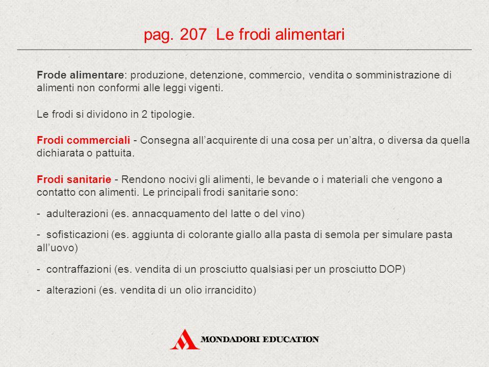 pag. 207 Le frodi alimentari
