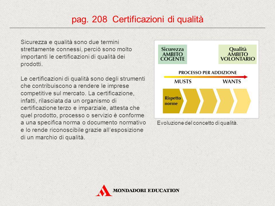 pag. 208 Certificazioni di qualità