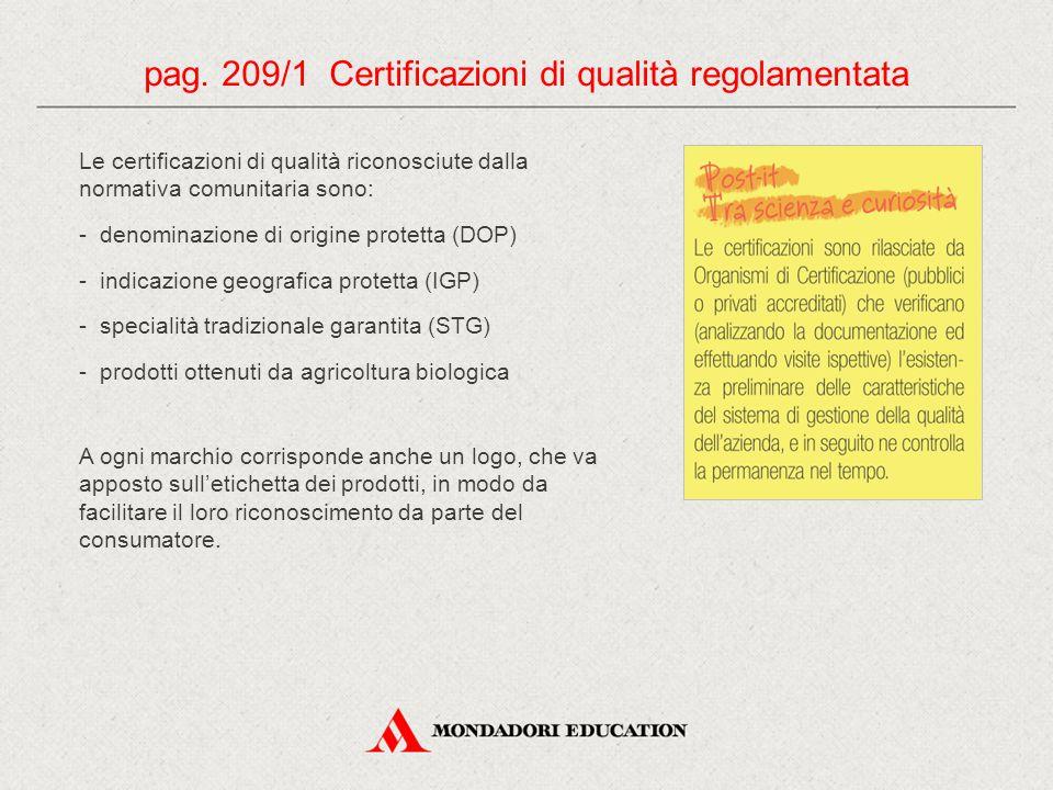 pag. 209/1 Certificazioni di qualità regolamentata