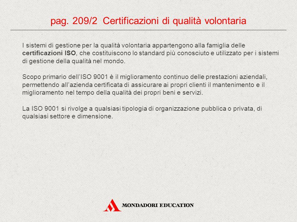 pag. 209/2 Certificazioni di qualità volontaria