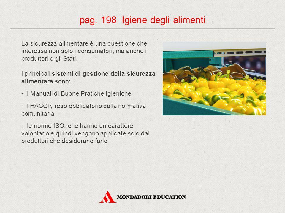 pag. 198 Igiene degli alimenti