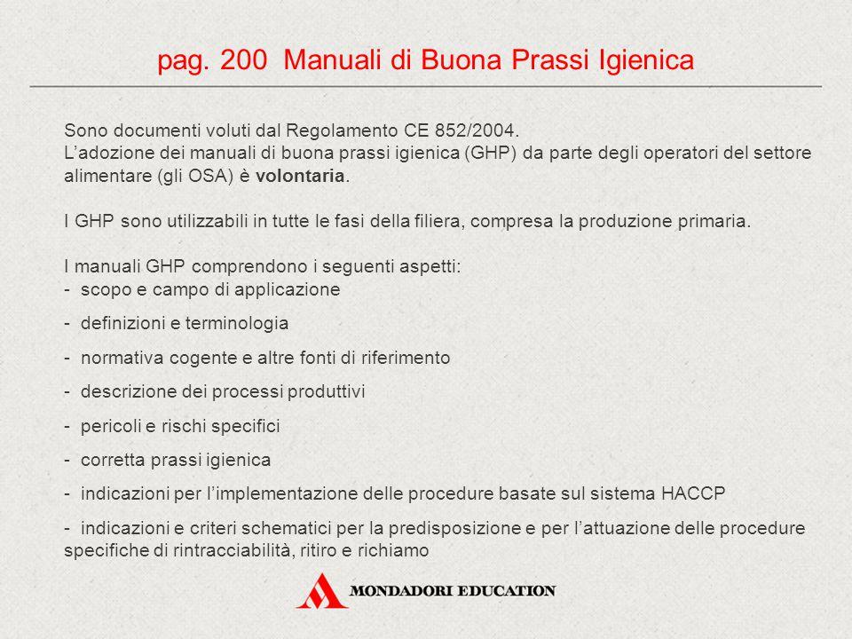 pag. 200 Manuali di Buona Prassi Igienica