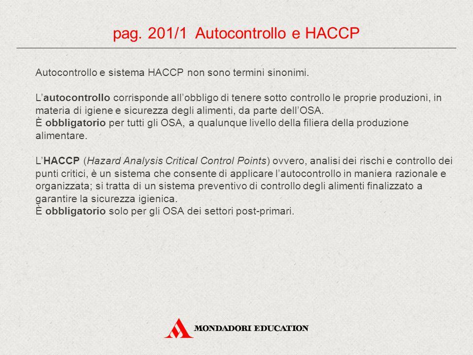 pag. 201/1 Autocontrollo e HACCP