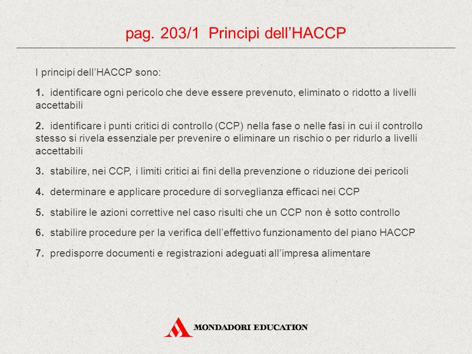 pag. 203/1 Principi dell'HACCP