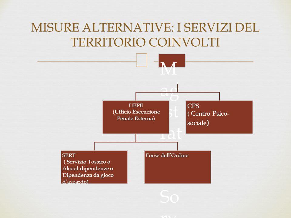 MISURE ALTERNATIVE: I SERVIZI DEL TERRITORIO COINVOLTI