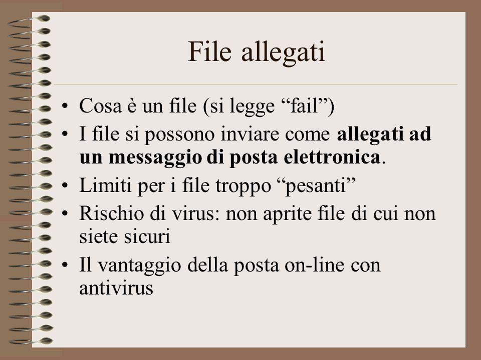 File allegati Cosa è un file (si legge fail )