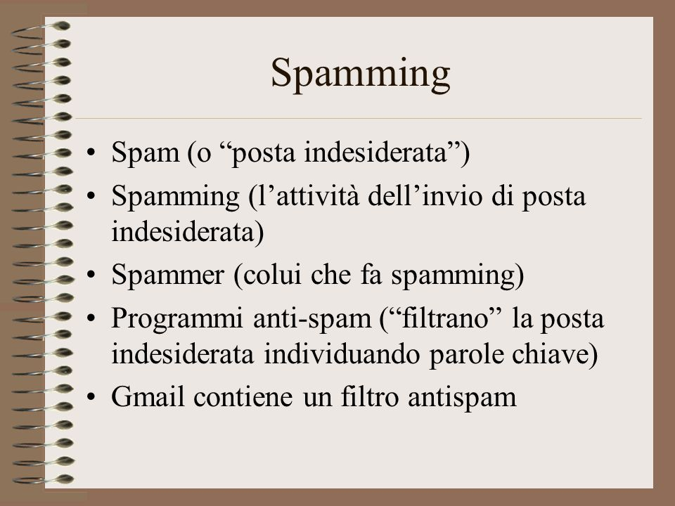 Spamming Spam (o posta indesiderata )