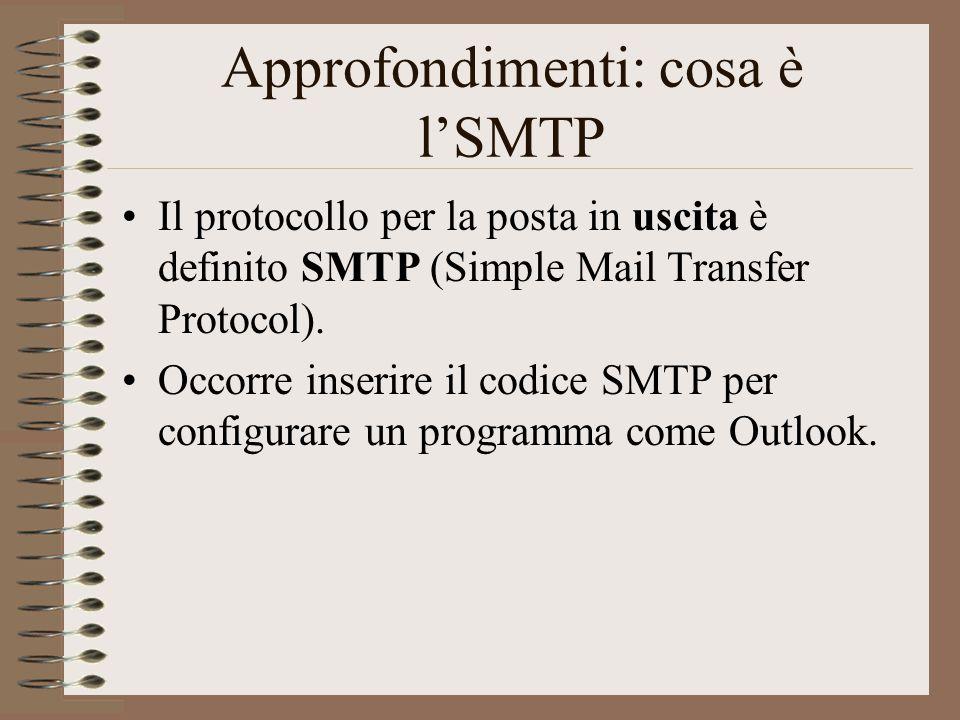 Approfondimenti: cosa è l'SMTP
