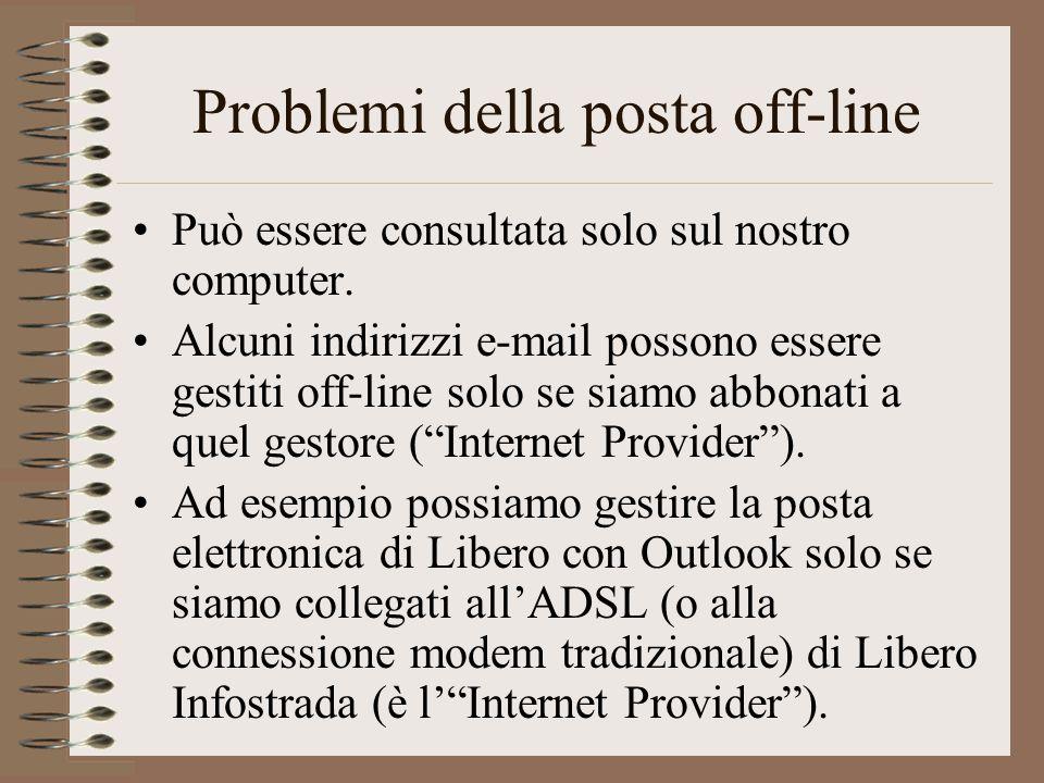 Problemi della posta off-line