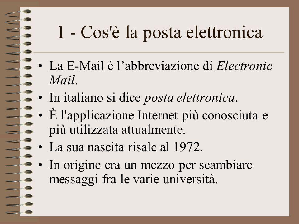 1 - Cos è la posta elettronica