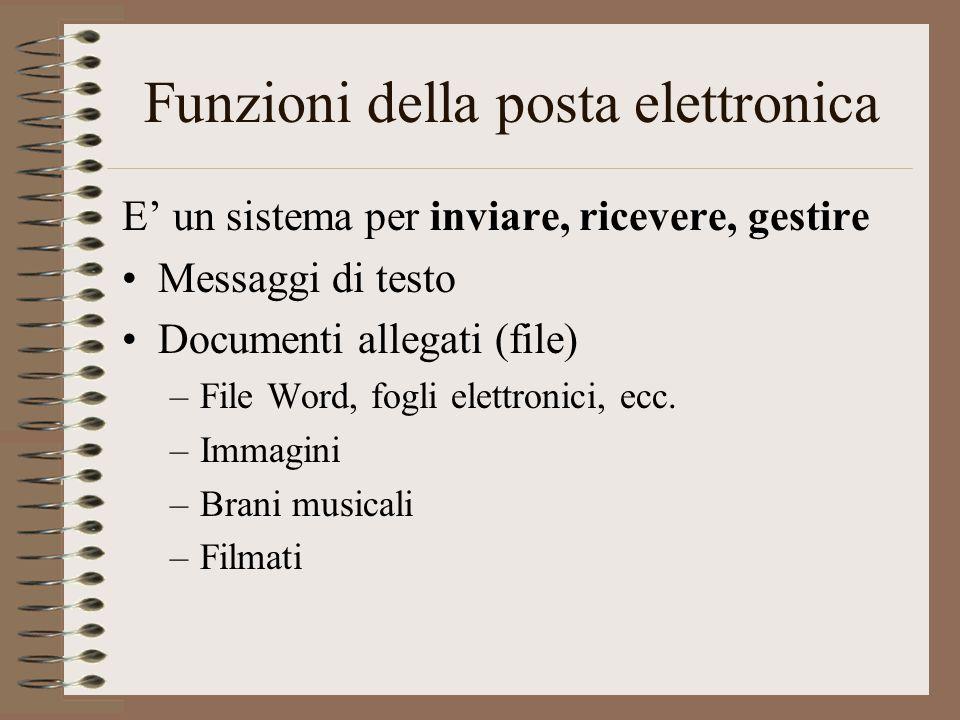 Funzioni della posta elettronica
